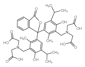 2-[[5-[1-[3-[[bis(carboxymethyl)amino]methyl]-4-hydroxy-2-methyl-5-propan-2-ylphenyl]-3-oxo-2-benzofuran-1-yl]-2-hydroxy-6-methyl-3-propan-2-ylphenyl]methyl-(carboxymethyl)amino]acetic acid
